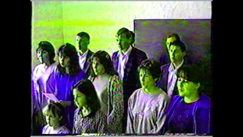 Молодежь. Репетиция песни Торжествуйте народы. 2002 г. г. Ялта