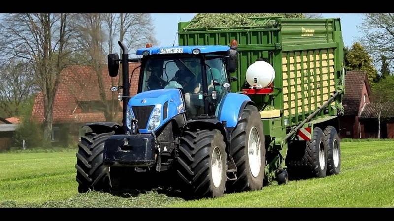 Ackergras Ernte 2016| New Holland T7.250Krone MX 350GD|HD|DJI