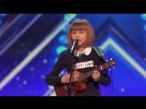 Солнечная девочка с укулеле покорила судей на шоу талантов