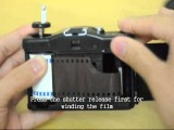 Зарядка пленки в ЛОМО Loading Lomography Camera: Lomo LC-A+