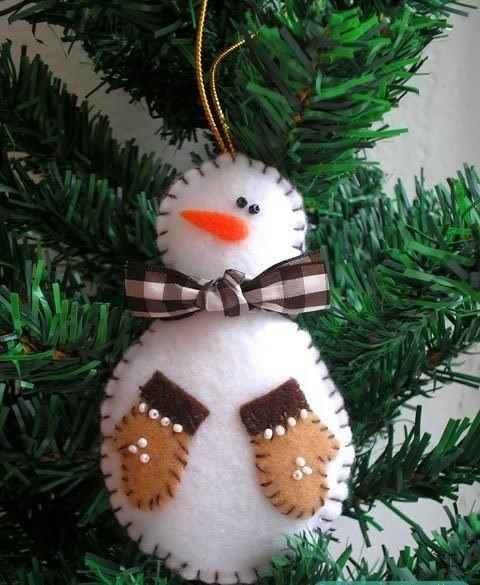 Елочная игрушка Снеговик (5 фото) - картинка