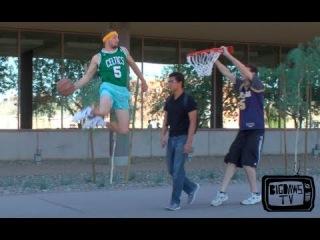 Баскетбольные приколы , с прохожими на улице