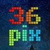 36 пикселей