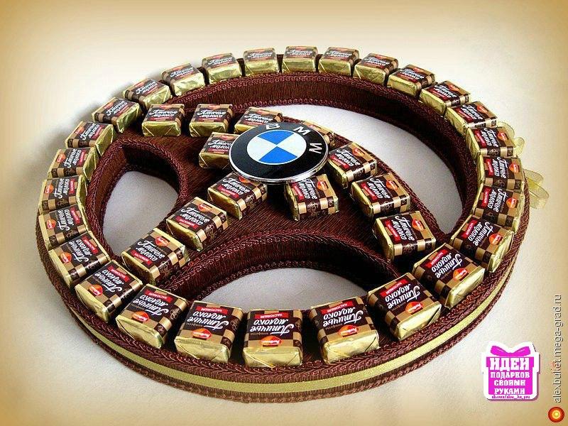 Руль из конфет своими руками пошаговые фото
