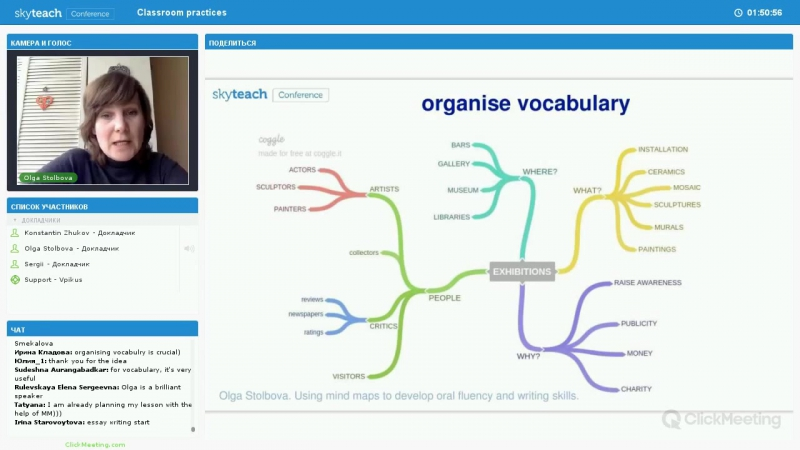 """Using mind maps in developing students oral fluency and writing skills"" Olga S"
