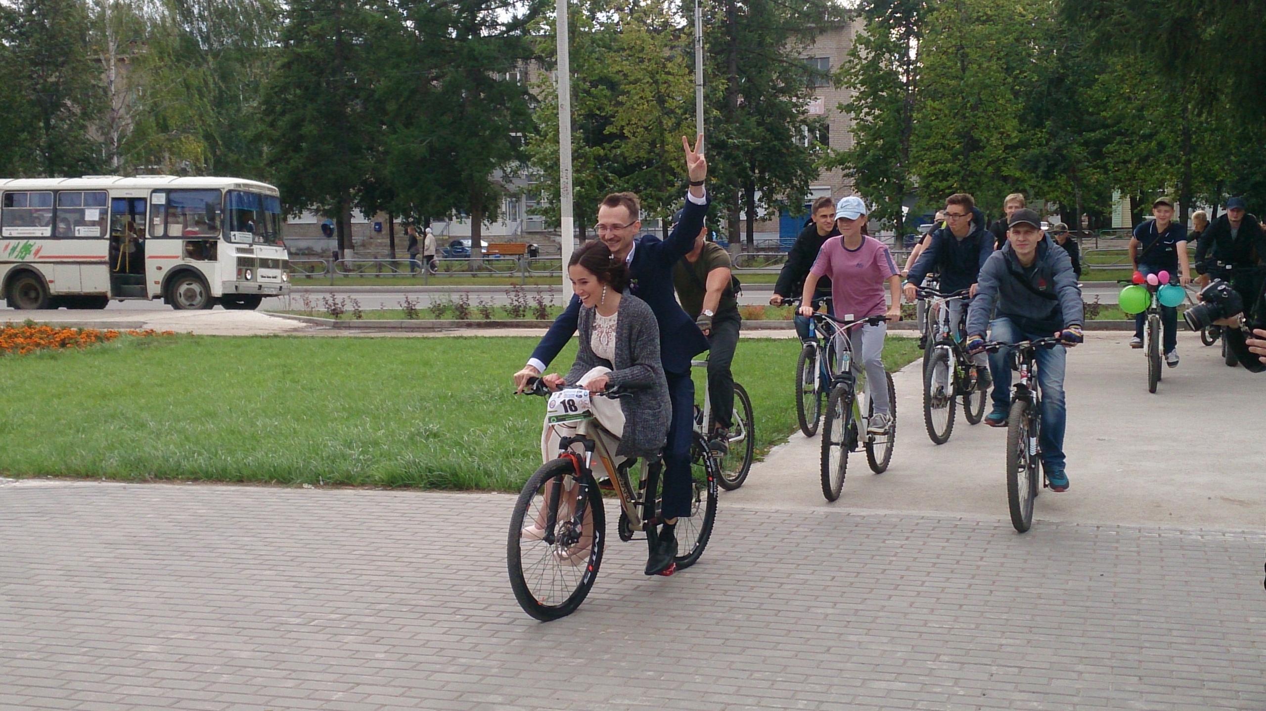 велосвадьба, чайковский район, 2018 год