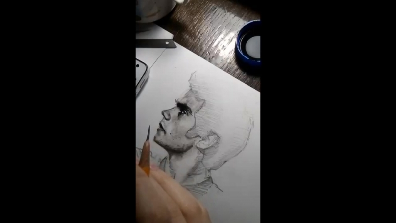 Дилан О'Брайен   Процесс рисования