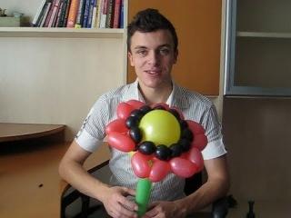 Цветок из ШДМ. Вкусный подсолнух из шариков. Попробуем? Легков.