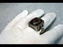 Большой мужской серебряный перстень с инициалами