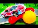 Мультик для детей - игрушки ЛЕГО. Играем с Петровичем в цветные шары. Видео для детей - Про машинки