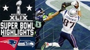 Super Bowl XLIX Patriots vs Seahawks highlights