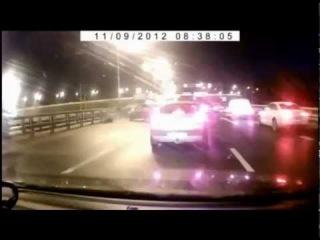 Подборка аварий на видео регистраторах октябрь 2012