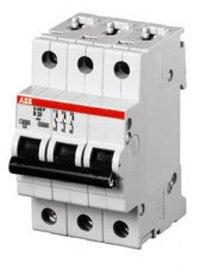 Автоматический выключатель ABB S283 C80 трёхполюсный трёхфазный.