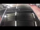 Киа Рио автотюнинг. Оклейка крыши автомобиля черной виниловой, глянцевой пленкой