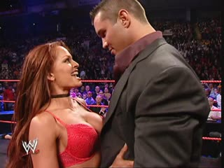 WWE Monday Night Raw 29th November 2004 - OBLIGATORY T&A: Randy Orton & Melina Perez & Maria & Candice Michelle + Christy Hemme