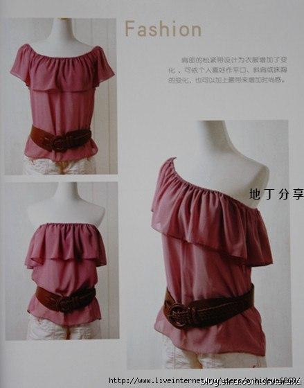 Простые выкройки блузок (7 фото) - картинка