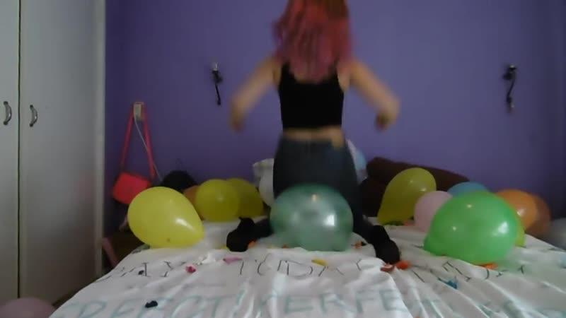 KarinB - Girl Popping Balloons_ ASMR