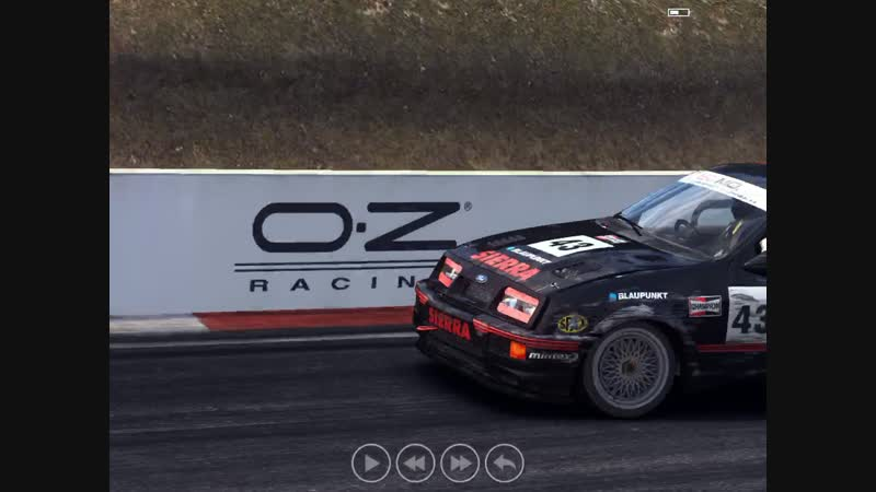 Rough Race on Sierra RS500 Cosworth at MT Panorama