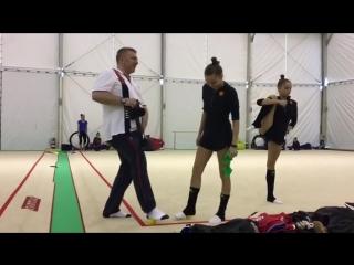 Дина Аверина, Арина Аверина (тренировка) // Чемпионат Европы 2018, Гвадалахара