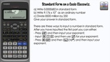 Standard Form On A Casio Classwiz - Science Notation Sci Number Format fx-991EX fx-83GTX fx-85GTX