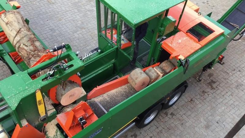 Mobile Brennholzaufbereitung mit Sägespaltautomat SpaltFix K-Vario | POSCH Leibnitz