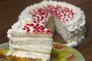 Бисквитный торт с творожным сыром