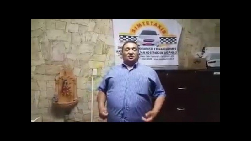 Em vídeo, presidente de sindicato de taxistas avisa a motoristas do Uber Agora vai ser no cacete