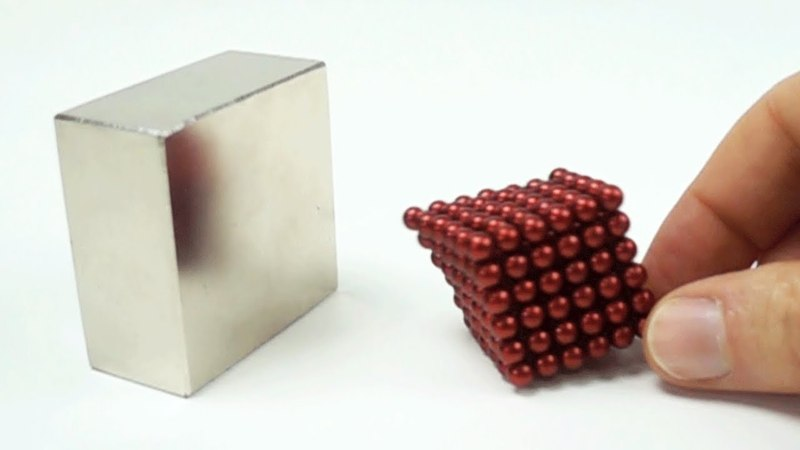 Magnet Collision in Slow Motion like Iron Man Nanobot suit up