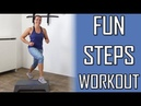20 Minute Fun Step Workout - Challenging Cardio Steps Exercises At Home