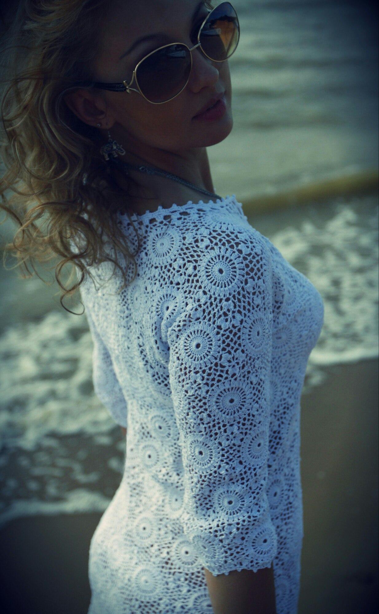 外网钩针连衣裙 - 柳芯飘雪 - 柳芯飘雪的博客