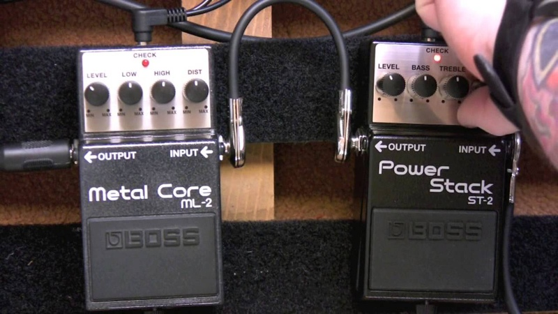 Boss Metal Core Pedal Vs Boss Power Stack Distortion Pedal Shootout