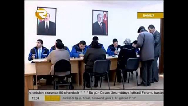 Seyyar ASAN xidmet Samux rayonunda CQBK - Regional TV Samux rayonu Самух район Azərbaycan Азербайджан
