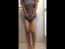 Jeans shorts pee part2