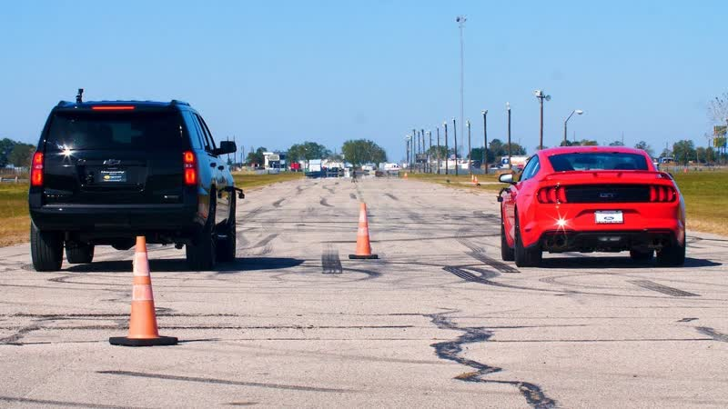 650 HP Chevrolet Tahoe by Hennessey Performance vs 460 HP Ford Mustang GT