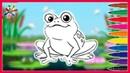 Рисуем лягушку Draw the frog Раскраски для детей