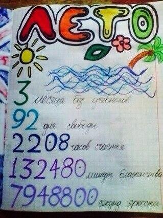 Прикольные картинки для личного дневника про лето