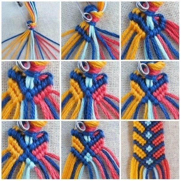 Плетение фенечки из ниток