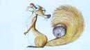 Уроки рисования. Как нарисовать белку СКРАТТИ с ЛЕДНИКОВОГО ПЕРИОДА how to draw ice age | Art School