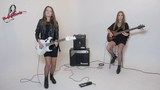The Eagles - Hotel California guitar solo (cover by RockMilady and her sister)