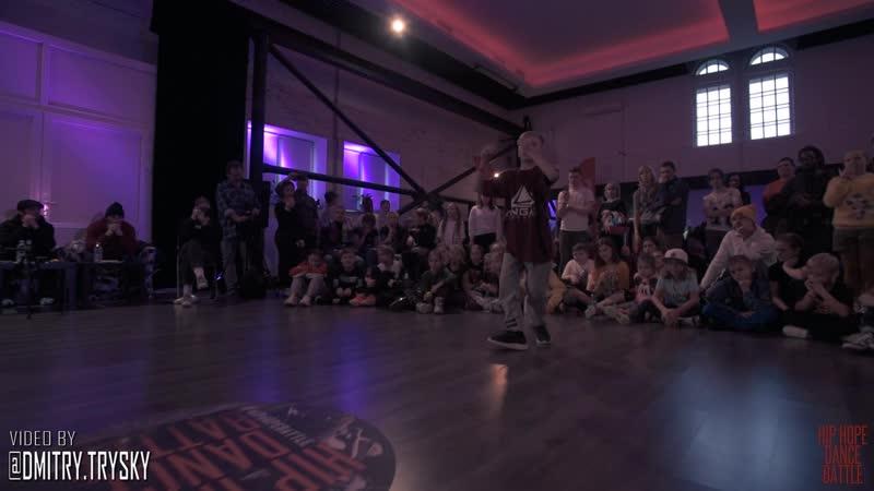 Апполинарик Vs Артём Мурашев Semifinal Hip-Hop Young Dancer HIP-HOPE 18-11-18