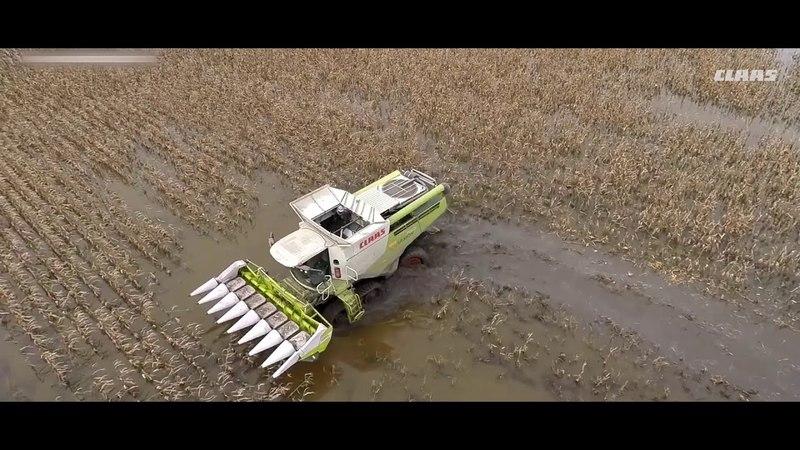 Сельхозтехника в экстремальных условиях. Такого в поле вы ещё не видели!