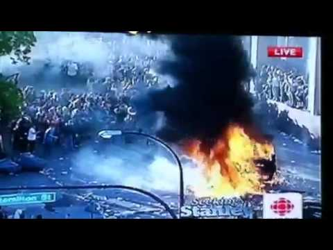 Vancouver Downtown Riot Game 7 Stanley Cup 2011 Cancuks Lost June 15th