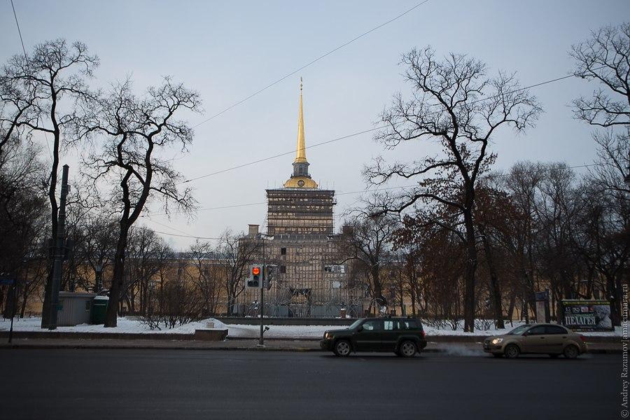 реконструкция Петербург строительные леса
