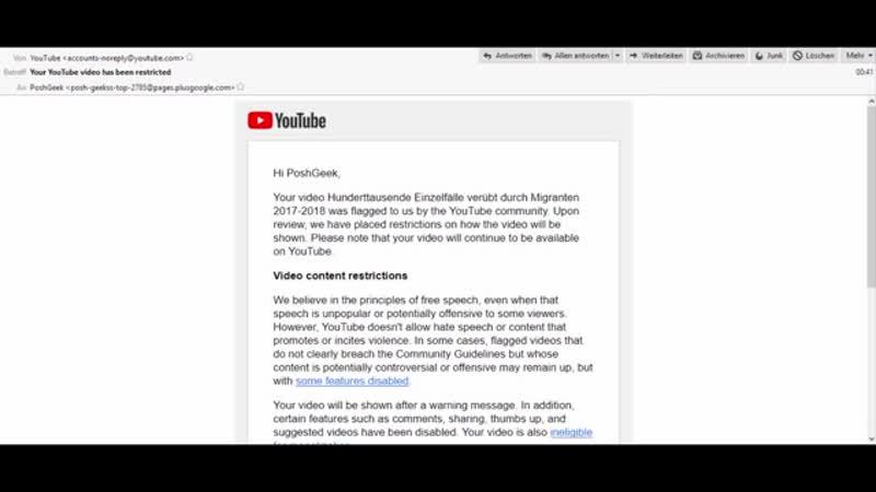 Falschmeldungen der Polizei- Video gesperrt