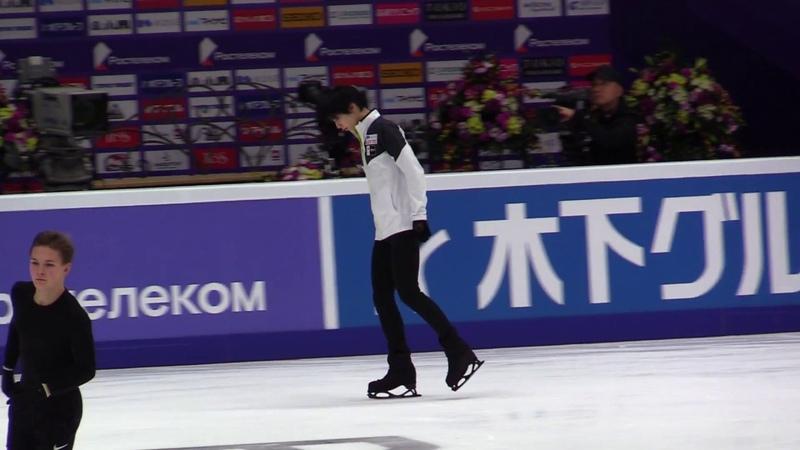 2018 Grand Prix Rostelecom Cup 11.16 Full SP Practice (羽生結弦 Yuzuru Hanyu Fancam)