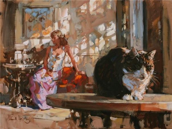 Приятные иллюстрации. Девушки в исполнении Пола Хедли.