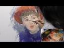 Портрет в импрессионизме смайлик лица художник Фания Сахарова