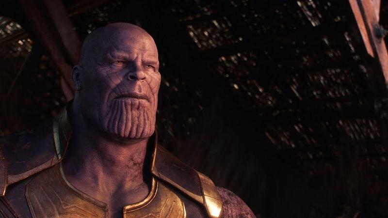 Танос после щелчка Мстители Война Бесконечности