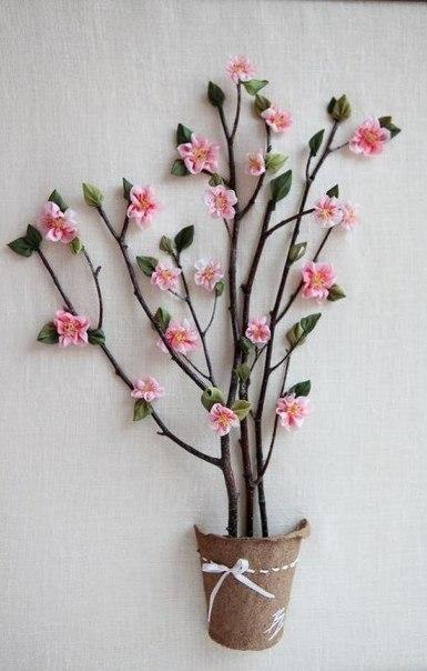 """Объемная картина """"Дерево с цветами"""". - My Dollhouse - Мой кукольный дом"""
