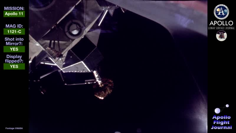 Разделение CSM и LM Apollo-11. 20 июля 1969 года.